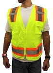 True Crest High Visibility Solid Surveyor Safety Vest (1 Piece)